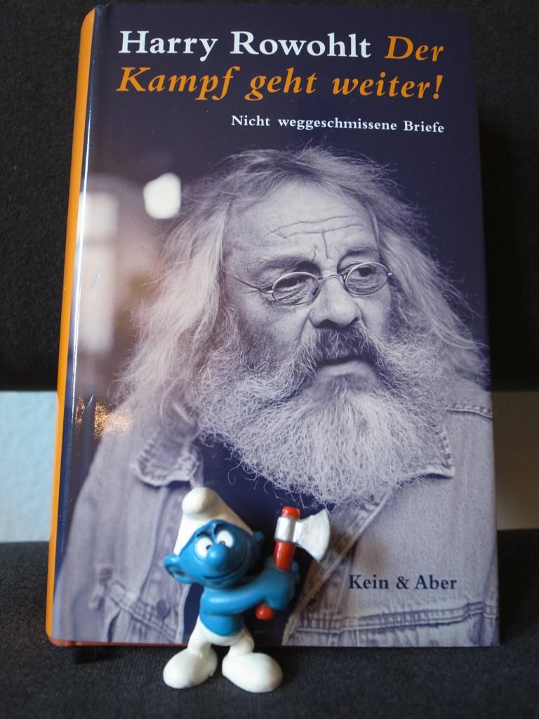 """Bild vom Buch """"Der Kampf geht weiter"""" von """"Harry Rowohlt""""."""