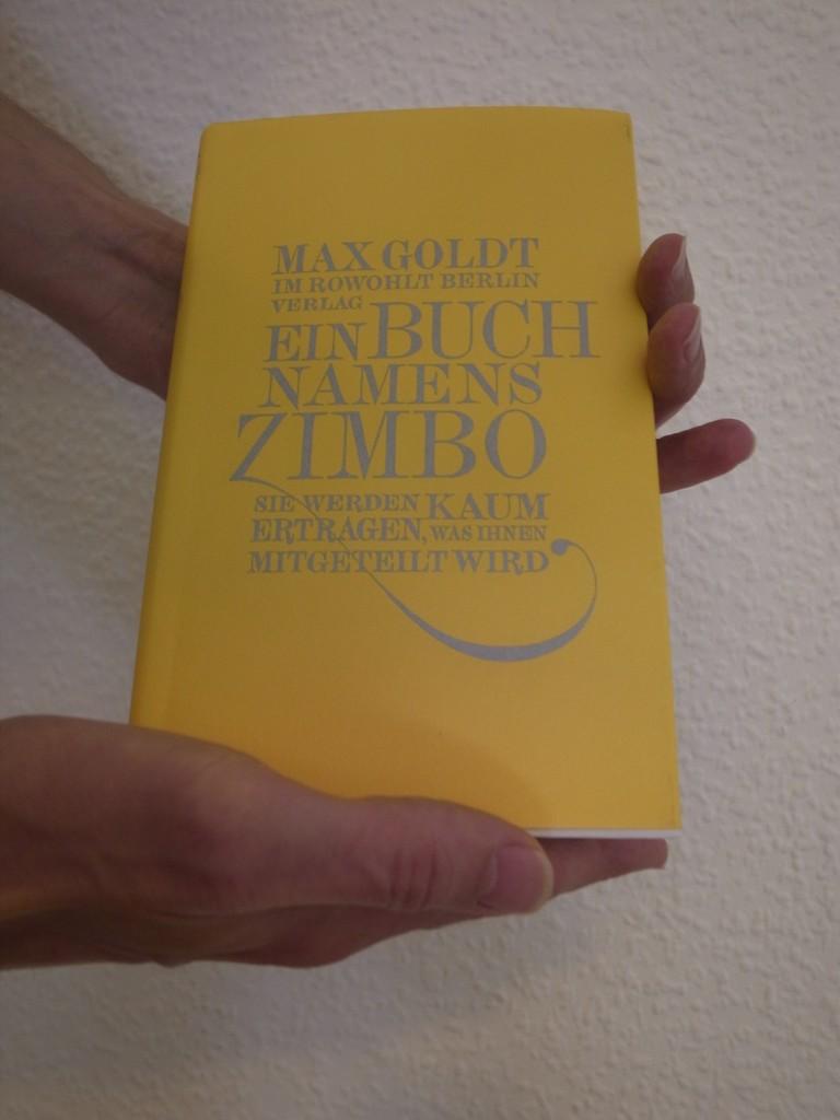 """Bild vom Buch """"Ein Buch namens Zimbo"""" von """"Max Goldt""""."""
