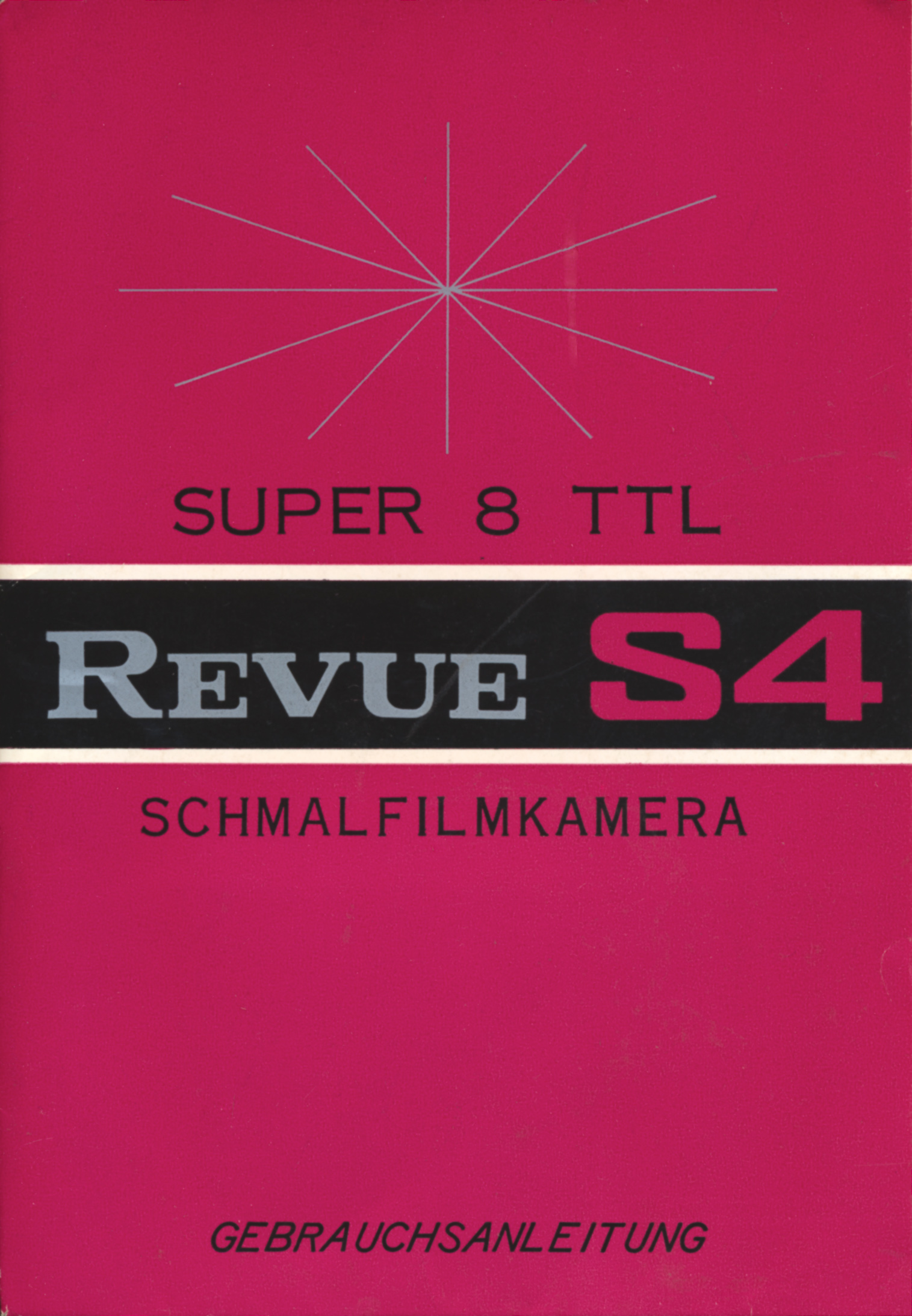 revue super 8 schmalfilmkamera s 4 bedienungsanleitung mac thor. Black Bedroom Furniture Sets. Home Design Ideas